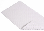 Kittrich BMAT-C4K04-04 Bath Mat, Shells, White Rubber, 16 x 28-In.