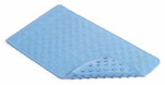 Kittrich BMAT-C4L01-04 Bath Mat, Circles, Blue Rubber, 14 x 24-In.