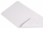 Kittrich BMAT-C4L04-04 Bath Mat, Circles, White Rubber, 14 x 24-In.