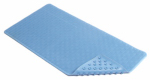 Kittrich BMAT-C4V01-04 Bath Mat, Wave, Blue Rubber, 18 x 36-In.
