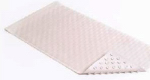 Kittrich BMAT-C4V04-04 Bath Mat, Wave, White Rubber, 18 x 36-In.
