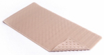 Kittrich BMAT-C4V08-04 Bath Mat, Wave, Taupe Rubber, 18 x 36-In.