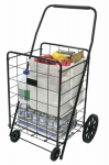 Faucet Queens 39520FD Deluxe Laundry Cart, Comfort Grip Handle, 4-Wheel