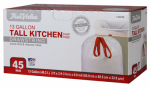 Berry Global 1221746 Kitchen Trash Bags, 45-Ct. 13-Gal.