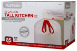 Berry Global 1221749 Tall Kitchen Trash Bags, 13-Gals., 85-Ct.