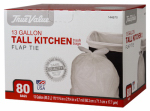 Berry Global 1221752 Tall Kitchen Trash Bags, 80-Ct, 13-Gal.