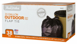 Berry Global 1221754 Trash Bags, Black Plastic, 33-Gals., 38-Ct.