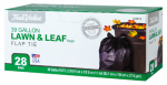 Berry Global 1221755 Lawn & Leaf Trash Bags, 28-Ct., 39-Gals.