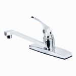 B&K 122-038 Kitchen Faucet, Single-Lever, Chrome