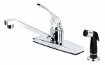 B&K 122-048 Chrome Single-Lever Kitchen Faucet with Sprayer
