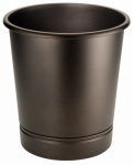 Interdesign 76585 York Bathroom Waste Basket, Bronze