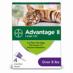 Bayer Animal Health 00724089202246 Advantage II For Large Cats, Purple, 4-Pk.