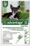 Professional Pest Products 04461707 Advantage II For Small Dogs, Green, 4-Pk.