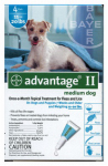 Professional Pest Products 04461723 Advantage II For Medium Dogs, Teal, 4-Pk.