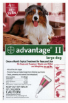 Professional Pest Products 04461758 Advantage II For Large Dogs, Red, 4-Pk.