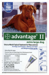 Premium Pet Products 04461774 Advantage II For XL Dogs, Blue, 4-Pk.