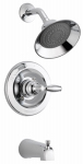 Delta Faucet P188775 Tub & Shower Faucet, Single Handle, Chrome, Lever Handle