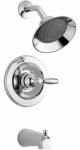 Delta Faucet P188775-BN Tub & Shower Faucet + Showerhead, Single Handle, Brushed Nickel