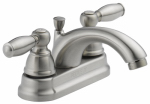 Delta Faucet P299675LF-BN Bathroom Faucet, Teapot Spout, Brushed Nickel, 2-Lever Handles