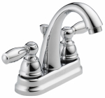 Delta Faucet P299696LF Bathroom Faucet, Arc Spout, Chrome Finish, 2 S-Lever Handle