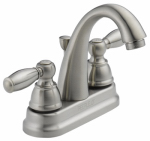 Delta Faucet P299696LF-BN Bathroom Faucet, Arc Spout, Brushed Nickel, 2 S-Lever Handles