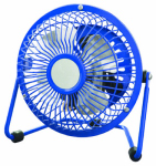 Midea International Trading FE10-CDB High-Velocity Personal Fan, Blue, 4-In.