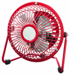 Midea International Trading FE10-CDR 4-Inch High-Velocity Personal Fan, Red