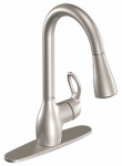 Moen/Faucets CA87011SRS Kitchen Faucet, Single Handle, Spot-Resistant Stainless Steel, Pull-Out Sprayer