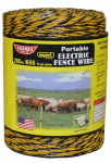 Parker Mc Crory Mfg 121 Electric Fence Wire, Yellow & Black Aluminum & Fiberglass, 656-Ft.