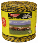 Parker Mc Crory Mfg 122 Electric Fence Wire, Yellow & Black Aluminum, 1,312-Ft. Spool