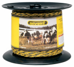 Parker Mc Crory Mfg 128 Electric Fence Wire, Yellow & Black Aluminum & Fiberglass, 1,312-Ft. Spool