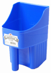 American Distribution & Mfg 150415 Feed Scoop, Enclosed, Blue Plastic, 3-Qts.