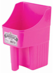 American Distribution & Mfg 153850 Feed Scoop, Enclosed, Hot Pink Plastic, 3-Qts.