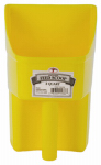 American Distribution & Mfg 153867 Feed Scoop, Enclosed, Yellow Plastic, 3-Qts.