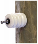 Dare Products 16D-25 Electric Fence Insulator, Wood Post, Porcelain, Nail-On