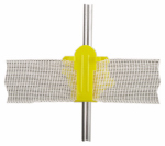 Dare Products 2336-25 Electric Fence Insulator, Round Post, Western Style, Yellow