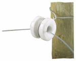 Dare Products 2356-10 Electric Fence Insulator, Corner, Porcelain, 10-Pk.