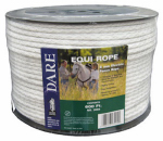 Dare Products 3094 Electric Fence Rope, Braided White Dacron & Stainless Steel, 6mm x 600-Ft.
