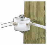 Dare Products 3283 Electric Fence Corner Post Bracket Kit, White