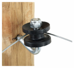 Dare Products 451 Electric Fence Corner Post Bracket Kit, Black