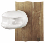Dare Products 2799-25 Electric Fence Insulator, Line & Corner, Porcelain, Heavy-Duty