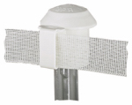 Dare Products 2929 Electric Fence T-Post Safety Cap, White, 10-Pk.