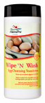 Manna Pro 1000320 Wipe 'N Washer or Washing Egg Cleansing Towelettes, Natural, 25-Ct.