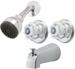 Homewerks Worldwide 10-B82WCHB Tub & Shower Faucet, Chrome, 2 Acrylic Handles