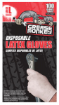 Big Time Products 23590-110 Latex Gloves, Disposable, 100-Ct.