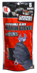 Big Time Products 23810-26 Nitrile Gloves, Disposable, 8-Ct.