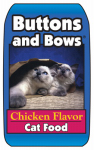 Sunshine Mills 10019 Buttons & Bows Chicken Flavor Cat Food, 40-Lbs.
