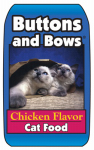 Sunshine Mills 10224 Buttons & Bows Chicken Flavor Cat Food, 20-Lbs.