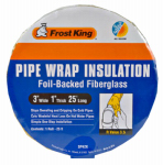 Thermwell Products SP42X/16 Pipe-Wrap Insulation Kit, Fiberglass , 1 x 3-In. x 25-Ft.