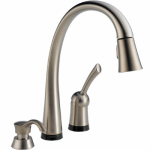 Delta Faucet 980T-SSSD-DST Kitchen Faucet, Stainless Steel, Touch2O Control, Built-In Pull-Out Sprayer